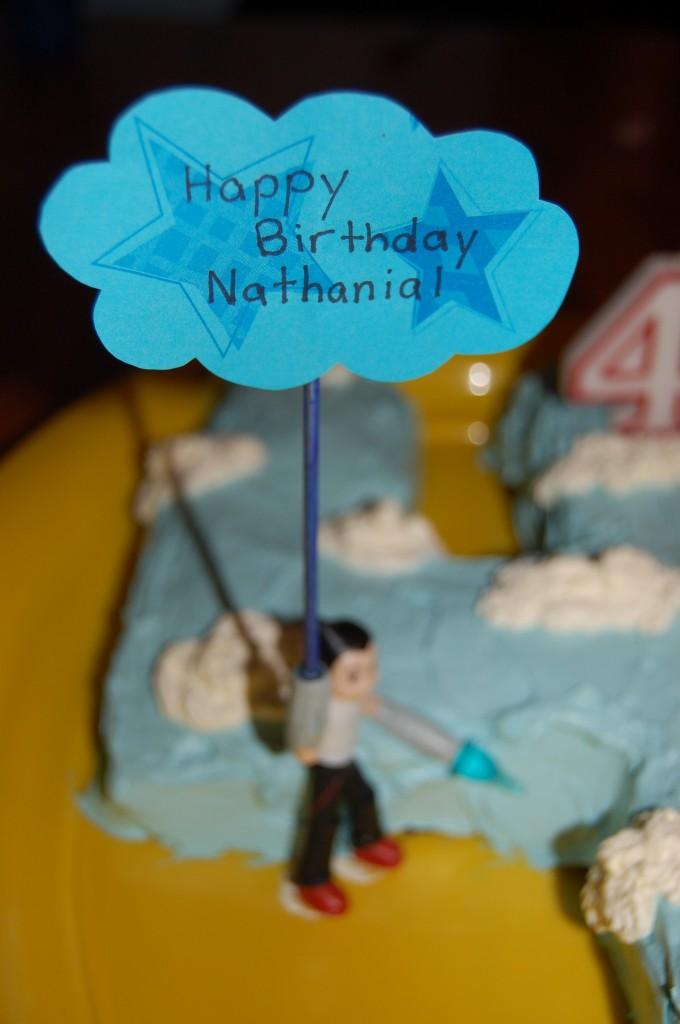 Nathanial's AstroBoy cake.